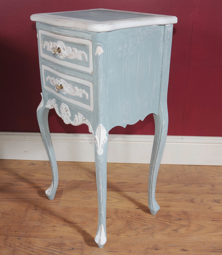 Pair Country Painted Nightstands Www Canonburyantiques Com