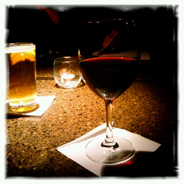 Healthy glass of wine at Aura