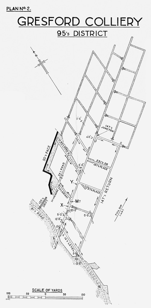 Gresford Colliery Explosion, 22nd September 1934 Plan 2