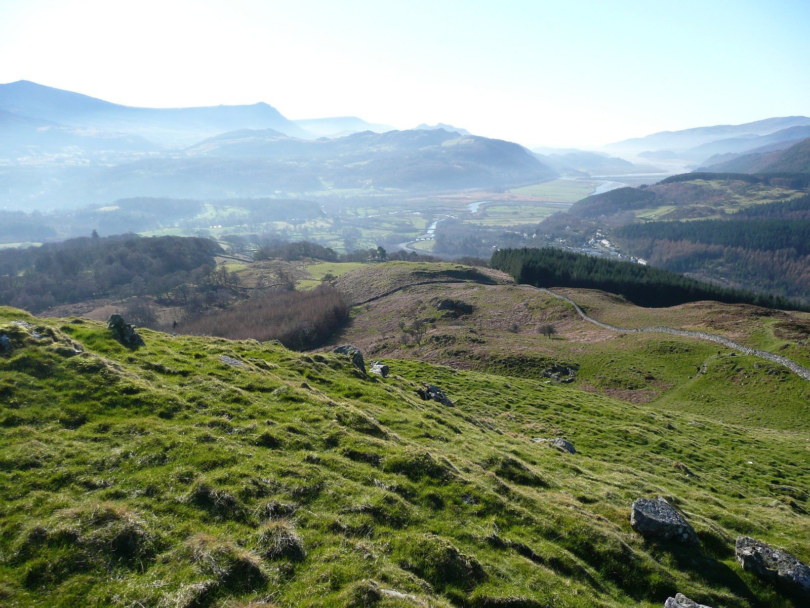 From Foel Faner - Precipice Walk (Feb 2008)