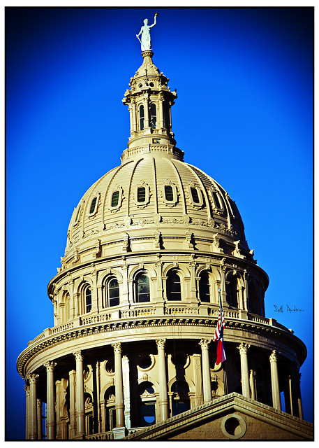 Dome of Texas Capitol Building - Ektachrome Holga