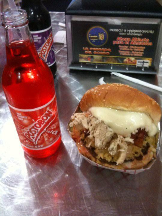 gordo burger and postobon