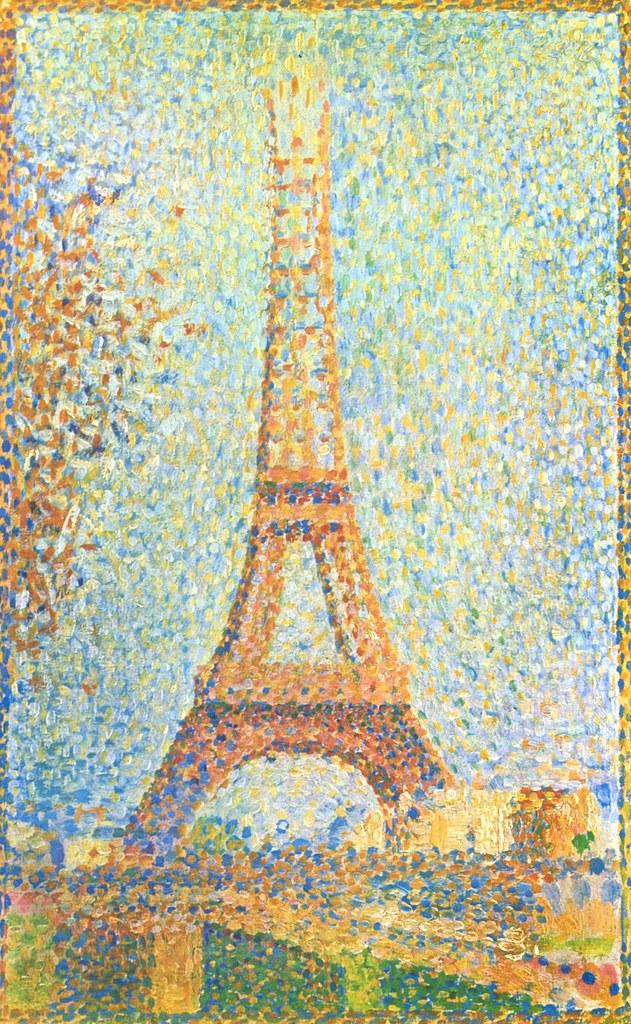 La Tour Eiffel (seurat) : eiffel, (seurat), Georges, Seurat, Eiffel, Pierre, Seurat…, Flickr
