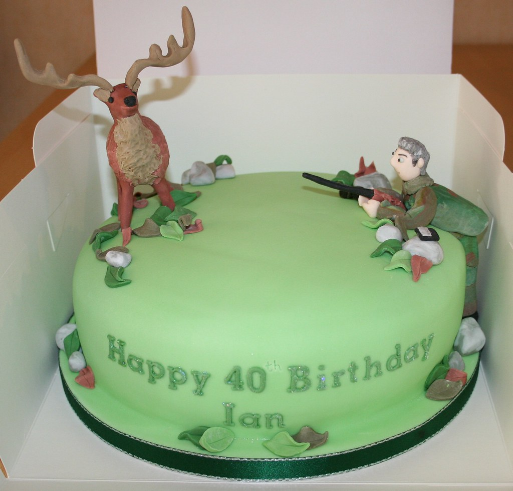 deer hunter birthday cake