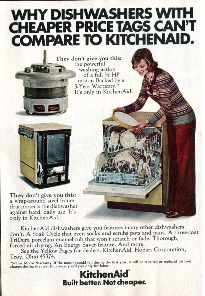 1975 KitchenAid Dishwasher Advertisement Readers Digest No