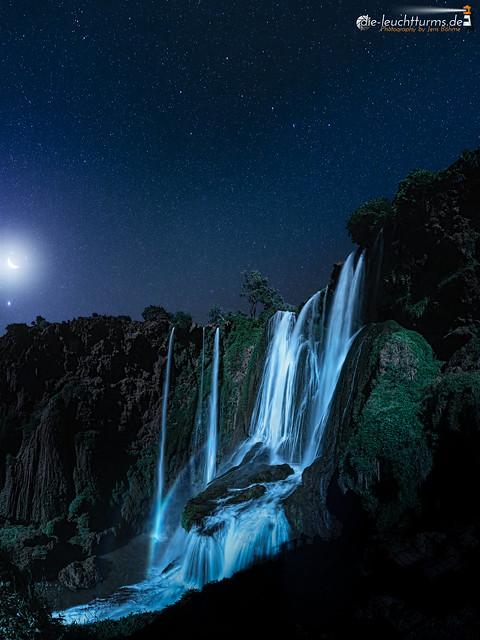 Arabic moon make a lunar rainbow