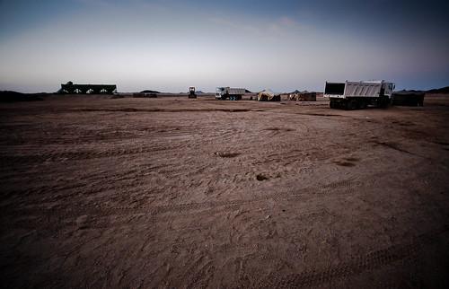 Road building camp