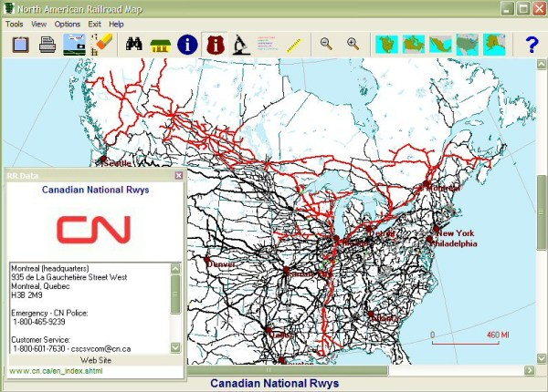 CN Canadian National Railway Map CN Canadian National