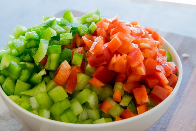 the foundation: onion, celery, peppers