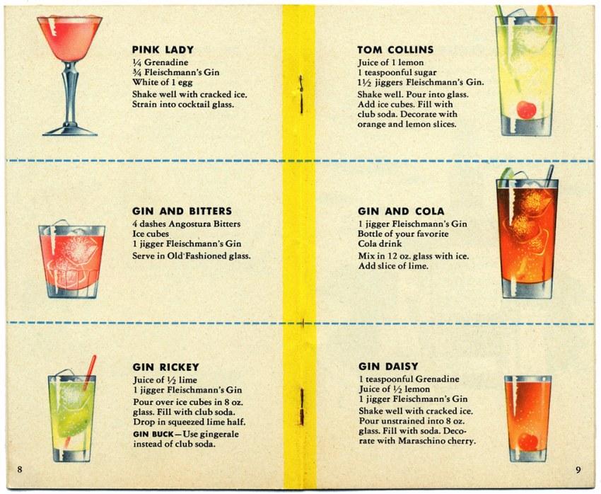 Fleischmann's Mixer's Manual Circa 1960 BN0061 Page 09 | Flickr