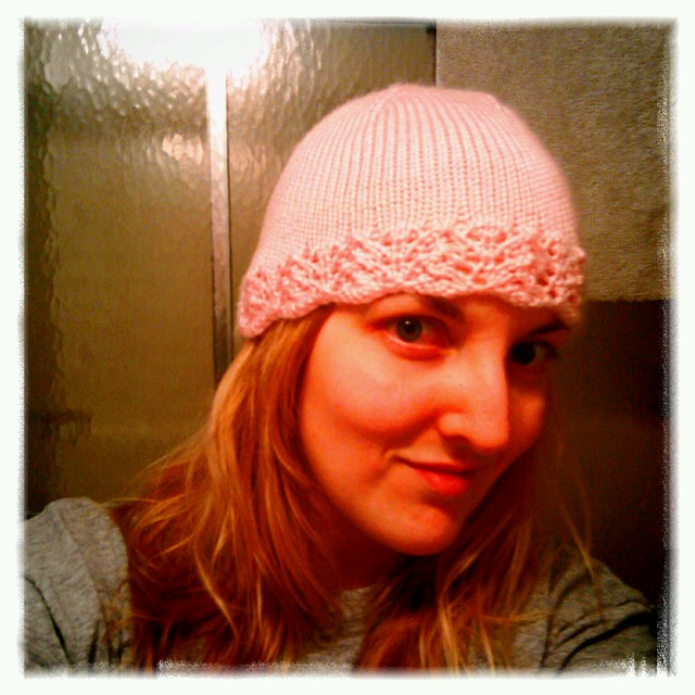 2nd attempt at knitting a hat went much better than 1st