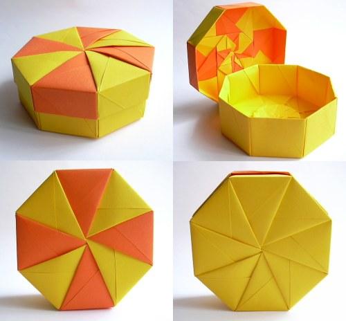small resolution of  octagonal pinwheel lid box tomoko fuse by dahlia k
