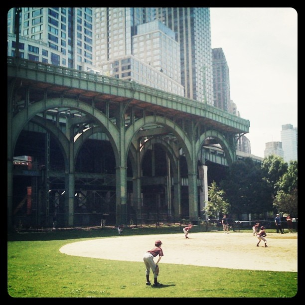 Little League Game at Riverside Park, New York City