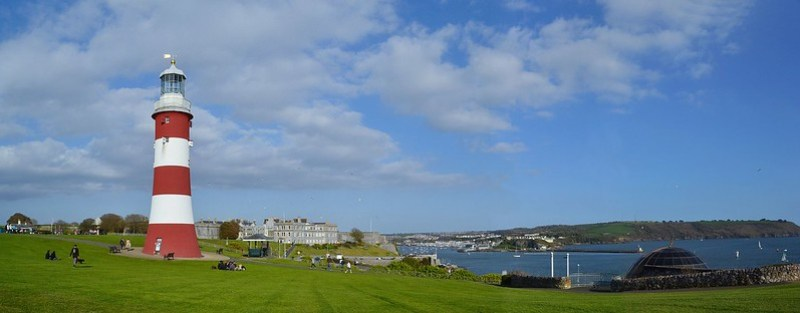 Plymouth Hoe Panorama 10. NikonD3100. DSC_0333-033-0336.