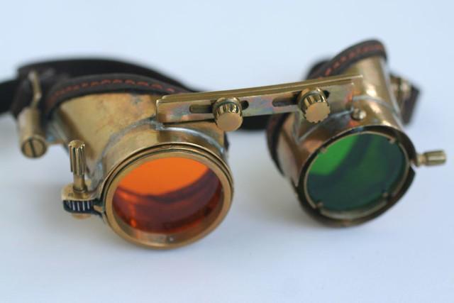 "Steampunk goggles ""ZoomEye"" 6"