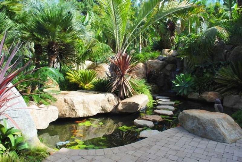 garden-pond-designs-waterfalls