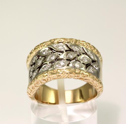 Gouden_bicolor_ring_met_diamanten_R1061  Mijn Mooiste Sieraden  Flickr