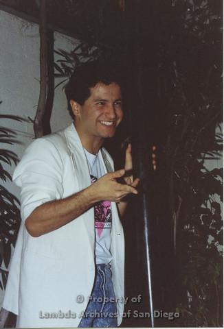 P001.167m.r.t 1st Anniversary 1991: Man in a white blazer