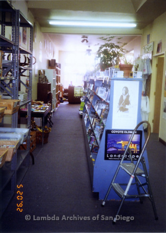 P167.014m.r.t Paradigm Women's Bookstore: Interior of bookstore