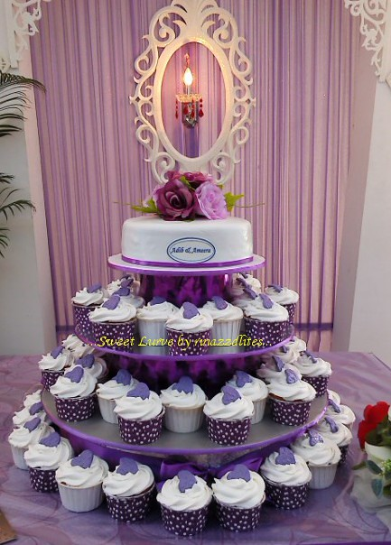Purple Wedding Cake Cupcakes To Order Email Rinazzdlites At G Flickr