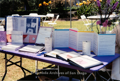 P018.172m.r.t San Diego Pride Festival 2000: Lesbian and Gay Historical Society San Diego (LGHSSD) timeline display