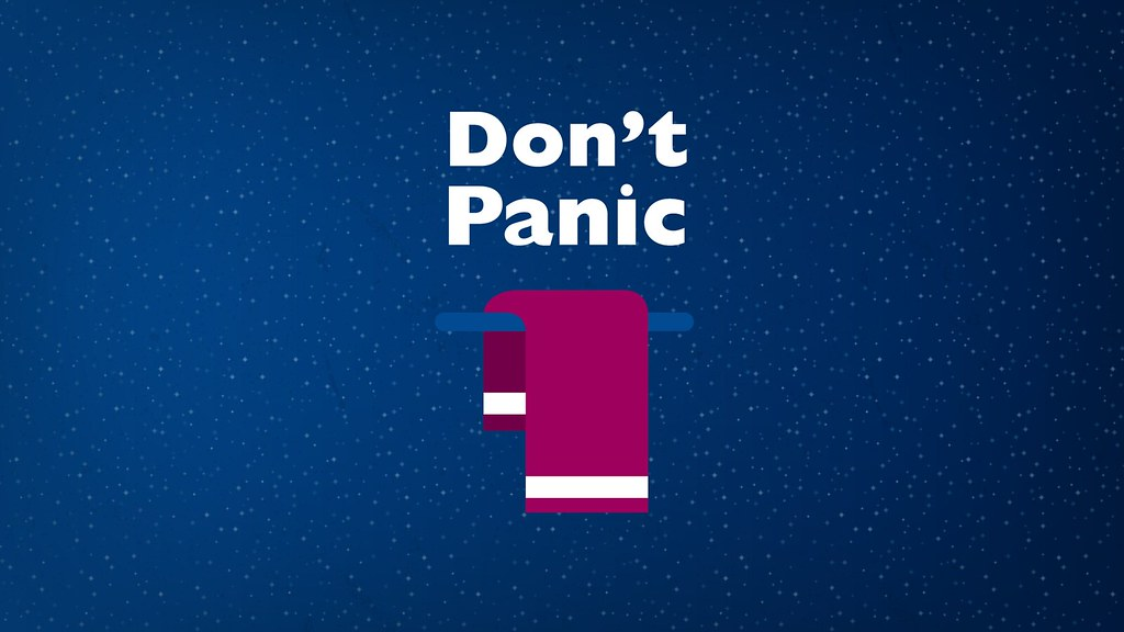 Douglas Adams Quotes Wallpaper Towel Day Dont Panic Douglas Adams The Hitchhikers G