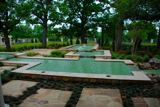 Allison Pools - Courtyard with Water Feature