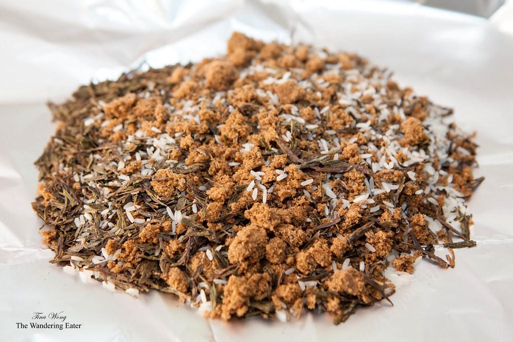 the tea smoke mixture