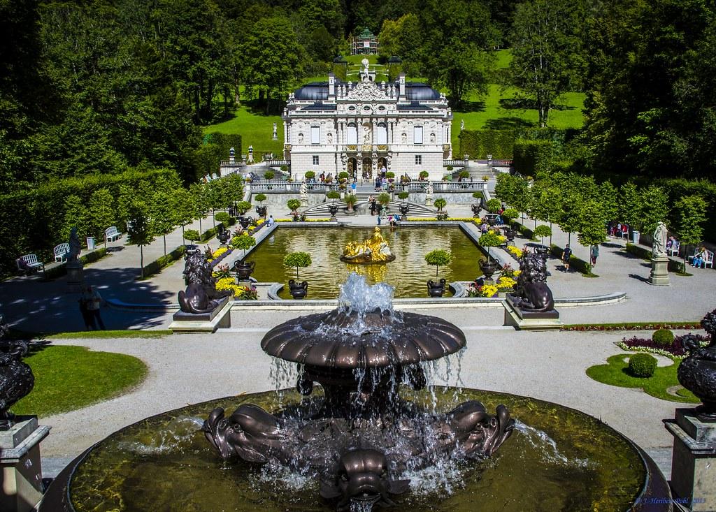 Schlosspark Linderhof K 246 Nigliche Villa Das Schloss