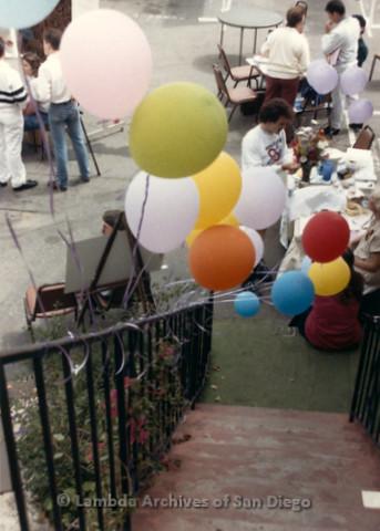 P019.315m.r.t M.A.P. Bake Sale/Art Auction: People walking around the bake sale/art auction