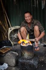 Preparing Bun Cha