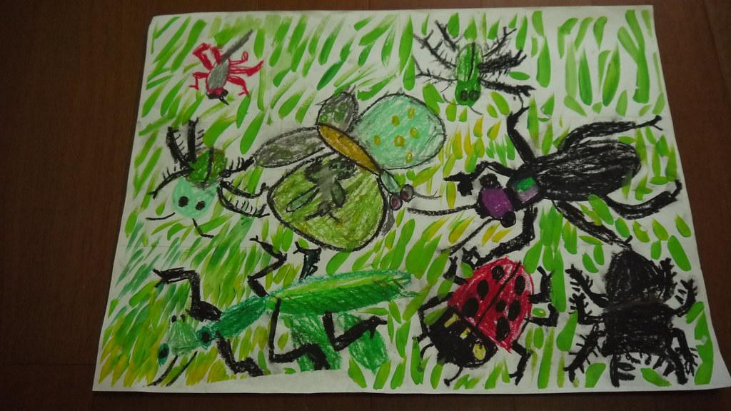 昆蟲 | 水彩用具&粉蠟筆 | 愛吃麵包的1+ | Flickr