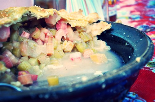 Rhubarb-Vanilla Bean Pie
