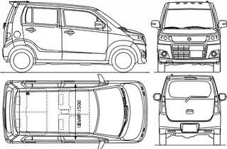 Maruti Suzuki Wagon R Stingray 2013 India Detailed Sketch