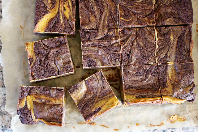 Pumpkin Swirl Cheesecake Brownies - 31