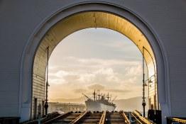 Bateau USS navy Fishermans' wharf lors des visites privees en français de San Francisco avec www.frenchescapade.com