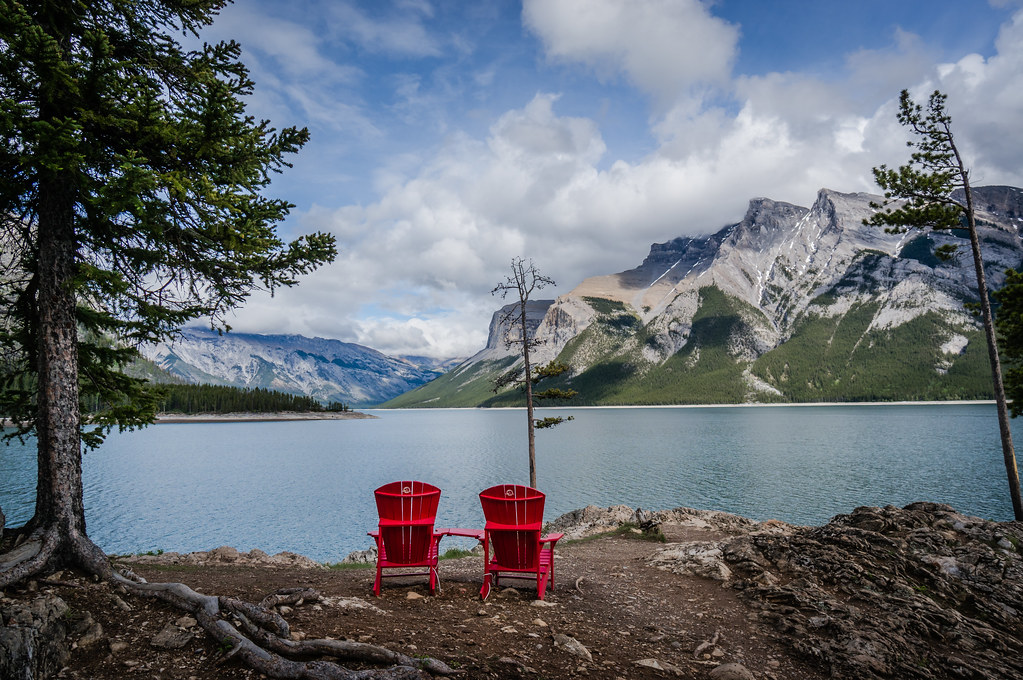 Red Chairs at Lake Minnewanka  part of the Red Chair