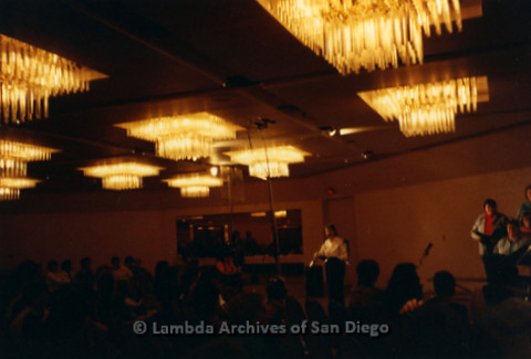 """""""The Magic Music Makes"""" San Diego Women's Chorus (SDWC) first choral festival with Sister Singers 1991: During the Choral Festival Reception Program."""