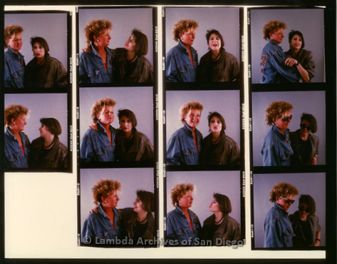 1988 - Proof print of multiple photos of Zanne and Mary Beckstrom.