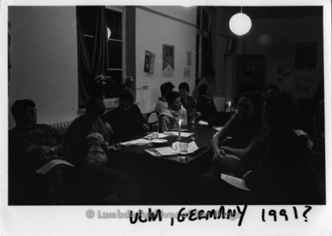 1991 - San Diego Native, Zanne in Germany: Performing for a group of Lesbians in a Germany Lesbian Coffee House.