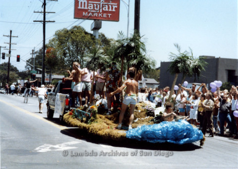 P018.021m.r.t San Diego Pride Parade1988: West Coast Production Company float