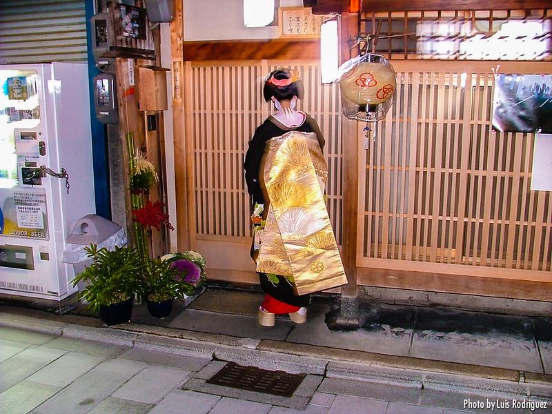 Maiko en celebraciones del Año Nuevo en Miyagawacho