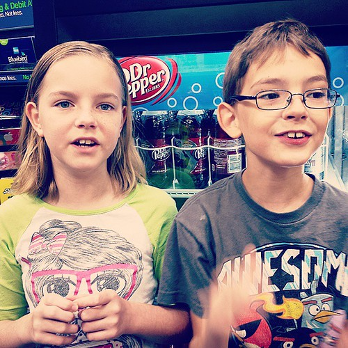 One of them is #healthy, the other has a very #wetcough but no #fever #sickness #fmsphotoaday #Walmart #checkout