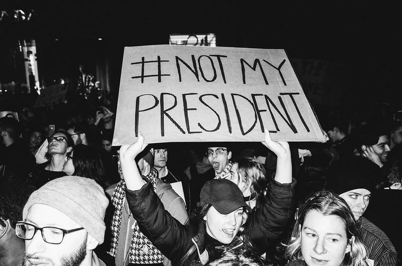 New York rally against Trump, 11/9/2016