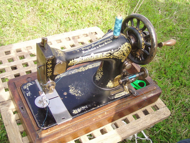 Cowboy's sewing machine