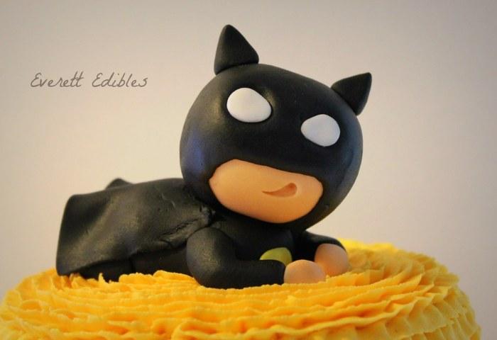 Baby Batman Fondant Cake Topper Babyshower Superhero Flickr