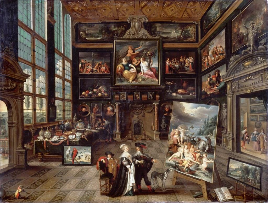 Cornelis De Baellieur Interior Of A Collector S Cabinet