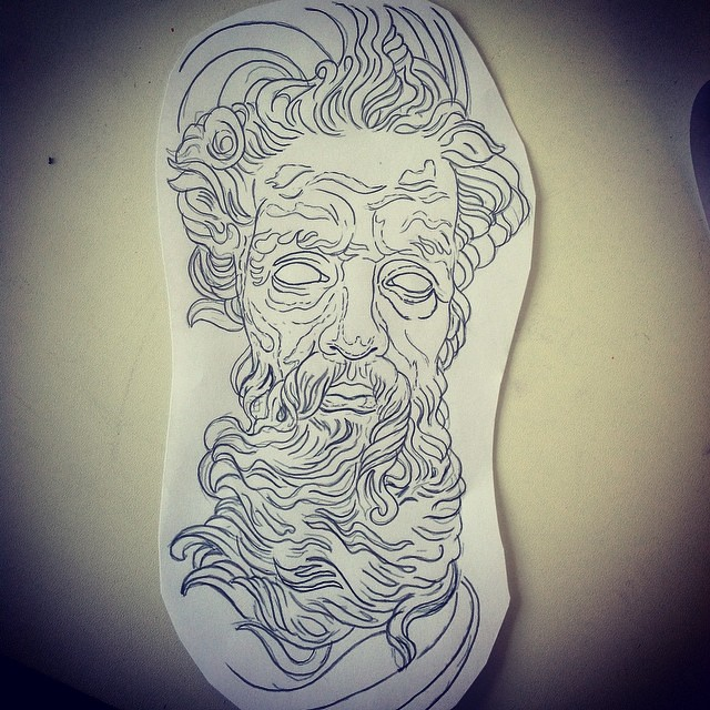 Vai Ter Zeus Tattoo Tatuaje Tatuagem Art Arte Gugo Flickr