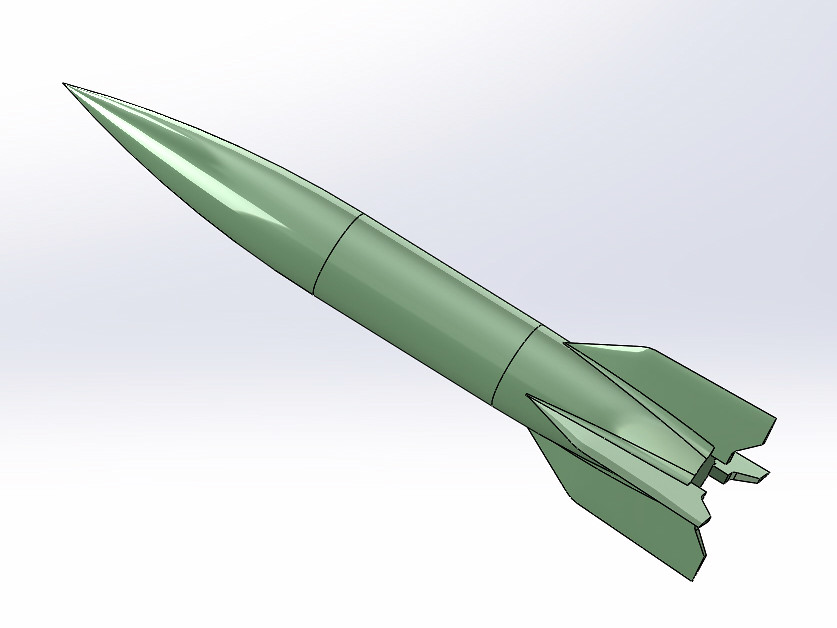 3D scale model of V2 rocket  I have been fooling around a