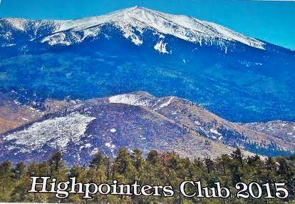 Highpointers 2015 Calendar